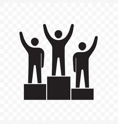 winners business people on pedestal icon vector image