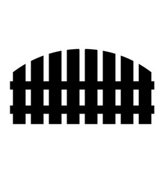 wooden fence simple silhouette design isolated on vector image