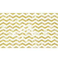 zig zag gold grunge seamless pattern vector image
