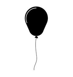 Balloon the black color icon vector