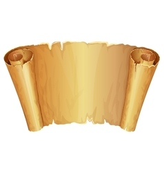 Big golden scroll of parchment vector image