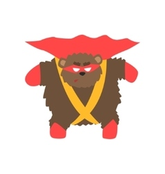 Brown Bear Animal Dressed As Superhero With A Cape vector image vector image