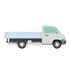 Cargo freight transportation truck vector image vector image