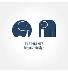 elephant icons vector image vector image