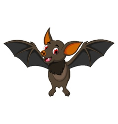 funny bat cartoon posing stand vector image