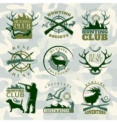 Hunting Emblem Set In Color vector image vector image