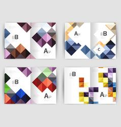 minimal square mosaic cover design templates vector image