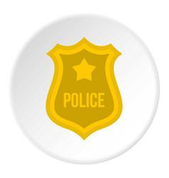 police badge icon circle vector image vector image