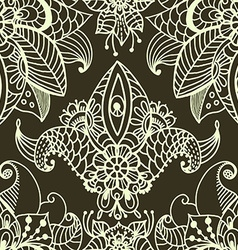 Stylish floral background hand drawn doodle floral vector image vector image