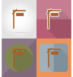 wooden board flat icons 02 vector image vector image
