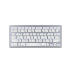 aluminum computer keyboard isolated on white vector image