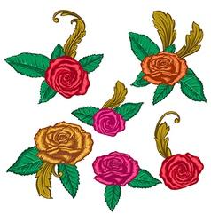 decorative rose vector image