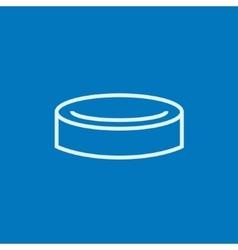 Hockey puck line icon vector image vector image