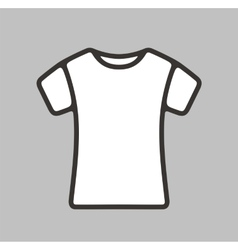 T-shirt icon vector image