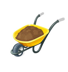 wheelbarrow with ground vector image vector image