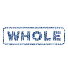 Whole textile stamp vector