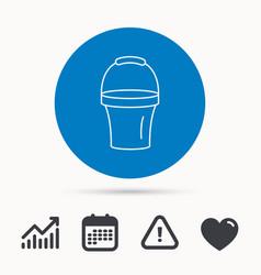 bucket icon trash bin sign garden equipment vector image