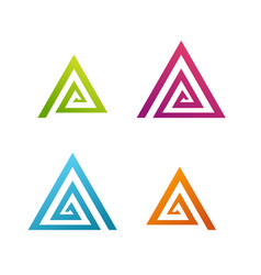 Business abstract spiral triangle icon vector
