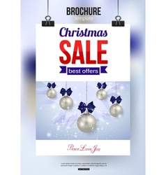 Christmas sale shining typographical background vector image vector image