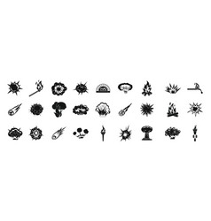 fire icon set simple style vector image