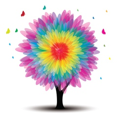 tree with flower vector image