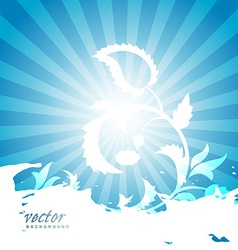 abstract floral artwork vector image vector image