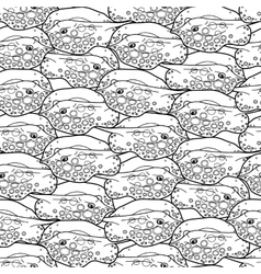 Graphic cramp fish pattern vector image