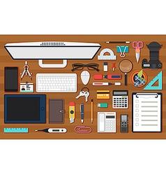 Office work equipment vector image