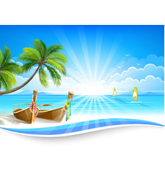 Paradise island vector image vector image