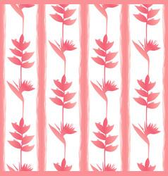 Pinktropic flowers seamless pattern vector
