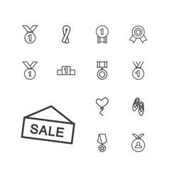 13 ribbon icons vector