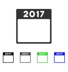 2017 year calendar template flat icon vector