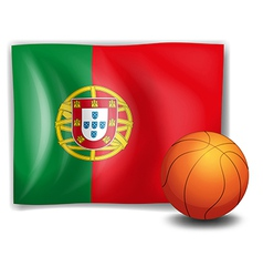 A ball and the flag of portugal vector