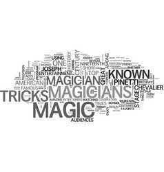 A bit of the history of magic text word cloud vector