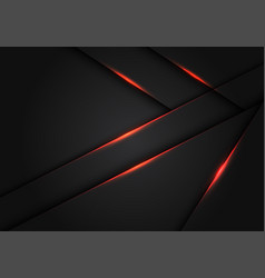 Abstract red light dark grey metallic overlap vector