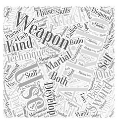 Aikido technique weapon Word Cloud Concept vector
