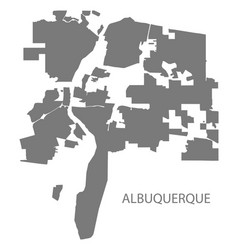 Albuquerque new mexico city map grey silhouette vector