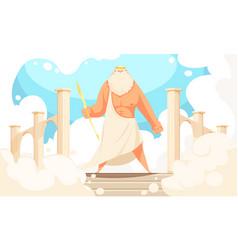 Ancient god zeus vector