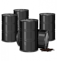 barrels with oil vector image