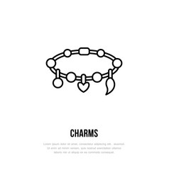 Bracelets with charms jewelry flat vector