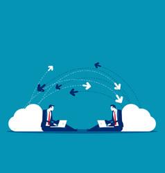 business send data message concept business vector image