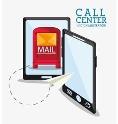 Call center and technical service design vector
