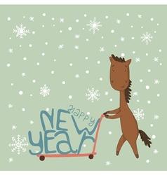 Card with a horse vector