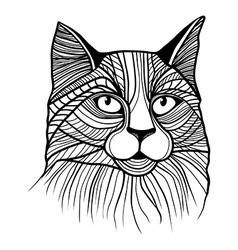 cat head animal vector image