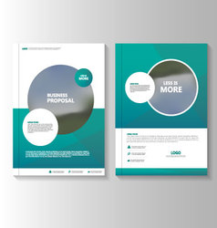 Circle Green annual report Leaflet Brochure vector