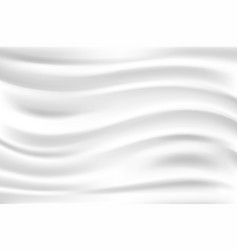 Clean white cloth wave folds fabric texture vector