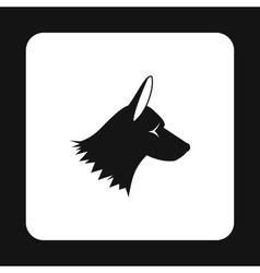Collie dog icon simple style vector