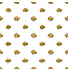 comic boom crash pattern seamless vector image