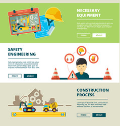 construction tools equipment for workers house vector image