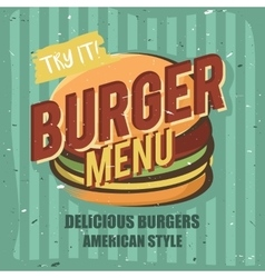 Creative logo design with burger vector image